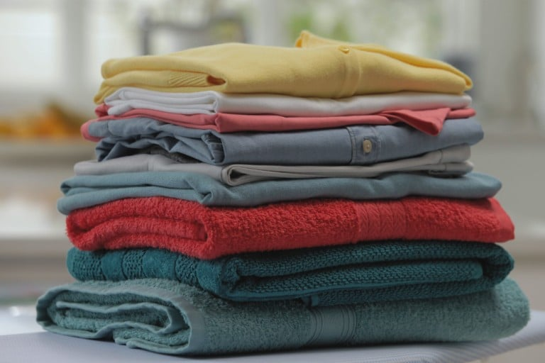 How to fold laundry to reduce creases and ironing time