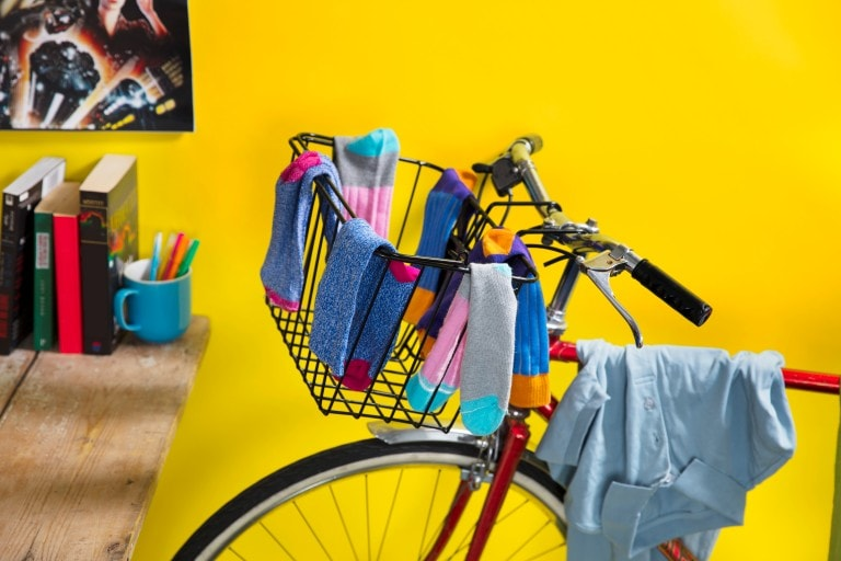 Bike with clothes on