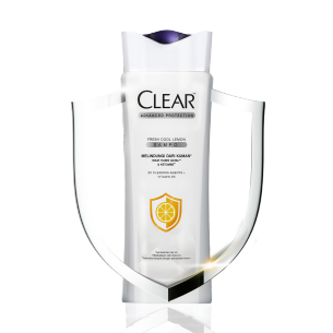 CLEAR Lemon Anti Bacterial Shampoo 160 ml gambar depan kemasan