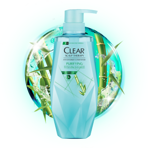 Front of conditioner pack CLEAR Micellar Scalp Therapy Purifying Anti-Dandruff Shampoo