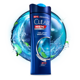 Shampo CLEAR MEN Cool Sport Menthol 80 ml gambar depan kemasan