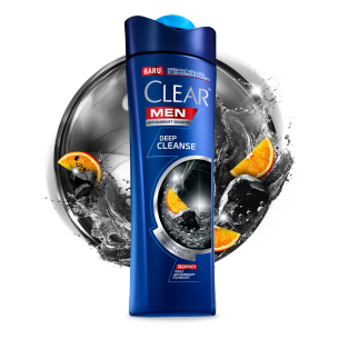 Shampo CLEAR MEN Deep Cleanse 80 ml gambar depan kemasan