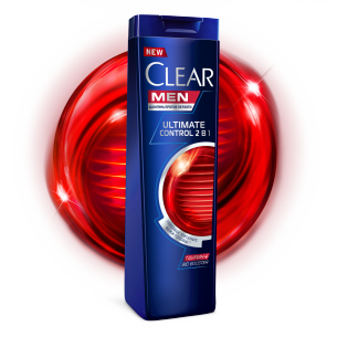 Front of shampoo pack Clear Men Ultimate Control 2-i 1-де сусабыны 200мл