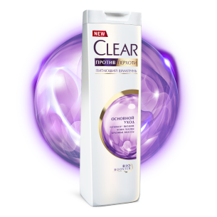 Front of shower pack Clear Tam Baxım Şampunu 200ml