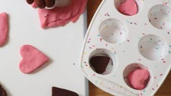 Making chocolate dough recipe for messy play activities