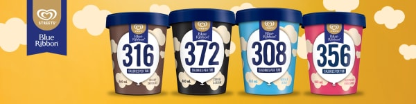 Blue Ribbon 308-372 Calorie Tubs