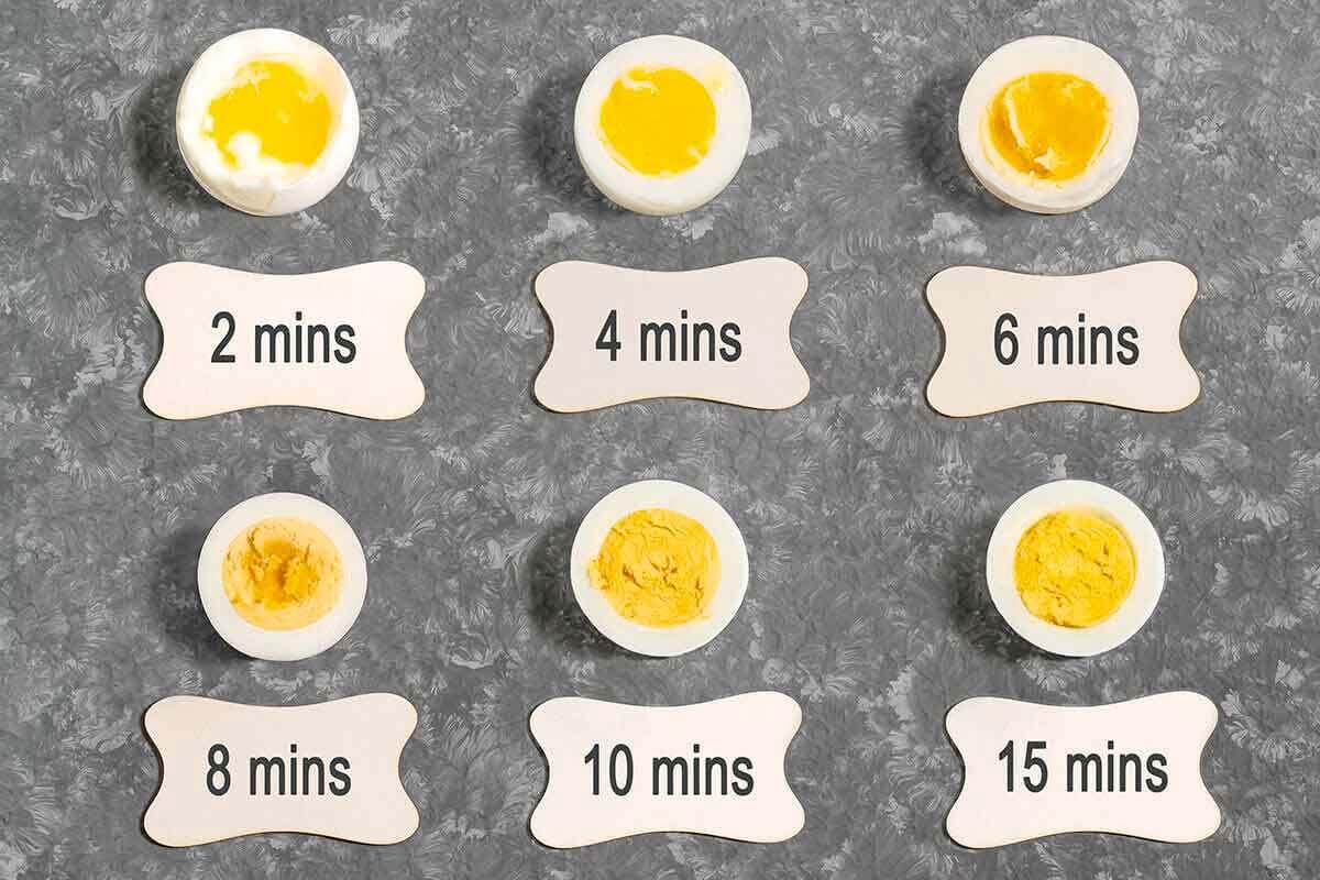 Beberapa jenis hasil terlu rebus mulai dari dua menit hingga 15 menit