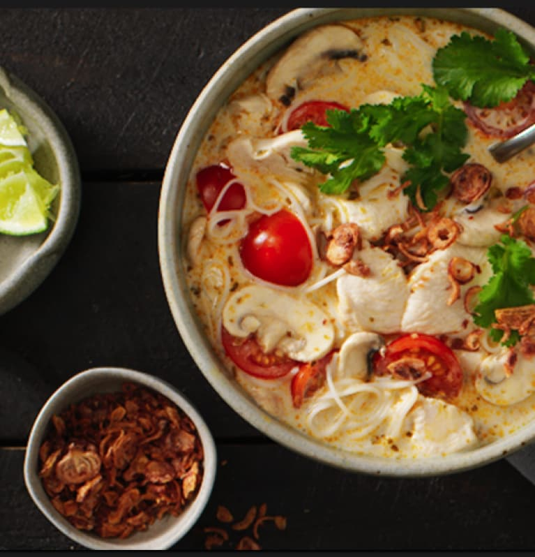 Fragrant Coconut Chicken Soup