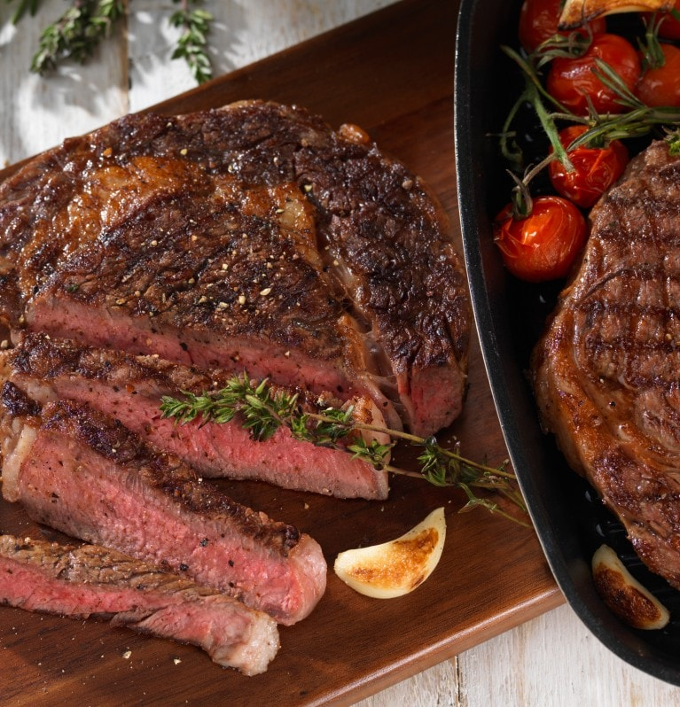 Cooked Steak with Vine Tomatoes| Continental