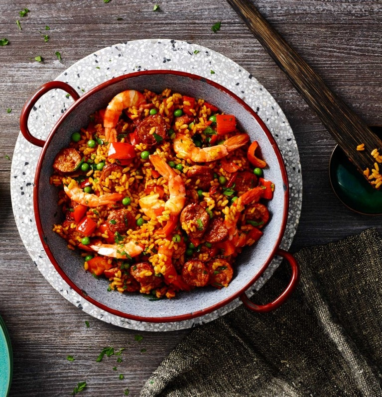 Smoky Paella with Prawn & Chorizo