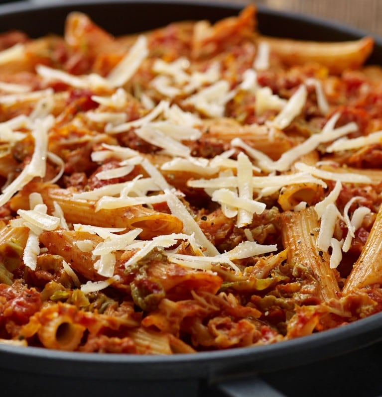 Penne-Cabbage-Sausages
