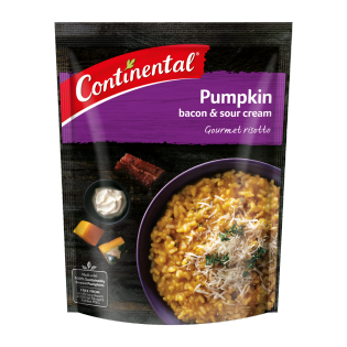 Pumpkin Bacon and Sour Cream Risotto
