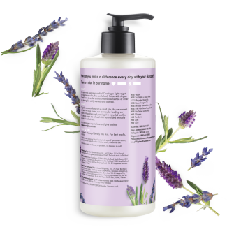 Back of body lotion pack Love Beauty and Planet Argan Oil & Lavender Body Lotion Soothe & Serene 400ml