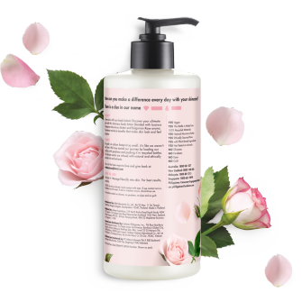 Back of body lotion pack Love Beauty Planet Murumuru Butter & Rose Body Lotion Delicious Glow 400ml