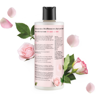 back of pack murumuru butter & rose body wash 400ml