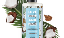 front of pack coconut water & mimosa flower body lotion 400ml