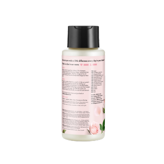 Mặt sau dầu gội Love Beauty And Planet Murumuru Butter & Rose Blooming Colour 400ml