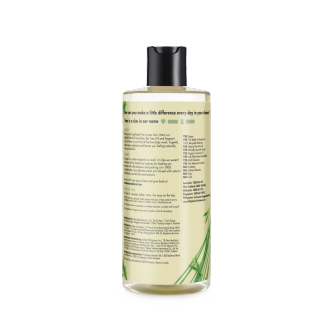Mặt sau sữa tắm Love Beauty And Planet Tea Tree Oil & Vetiver Pure And Positive 400ml