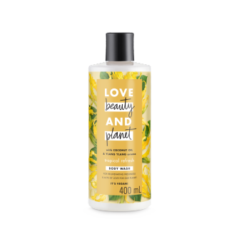 Mặt trước sữa tắm Love Beauty And Planet Coconut Oil & Ylang Ylang Tropical Refresh 400ml