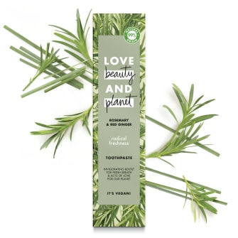Front of pack Love Beauty and Planet Toothpaste Radical Freshness 75ml