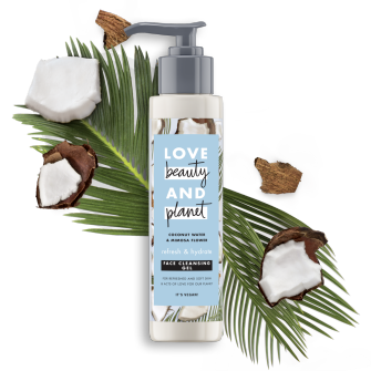 Front of face cleansing gel pack Love Beauty Planet Coconut Water & Mimosa Face Cleansing Gel Refresh & Hydrate 125ml
