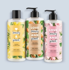 three body wash bottles