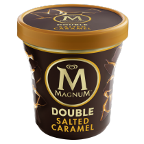 PNG - Magnum Double Salted Caramel Pint Ecommerce Lid on Shot 2018 EU. White