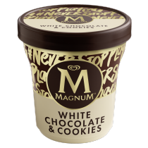 PNG - Magnum White Chocolate and Cookies Pint Ecommerce Lid on Shot 2018 EU.