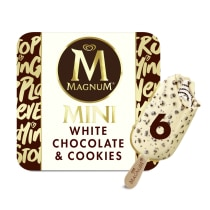 PNG - Magnum Multipack White Chocolate and Cookies 6x55ml