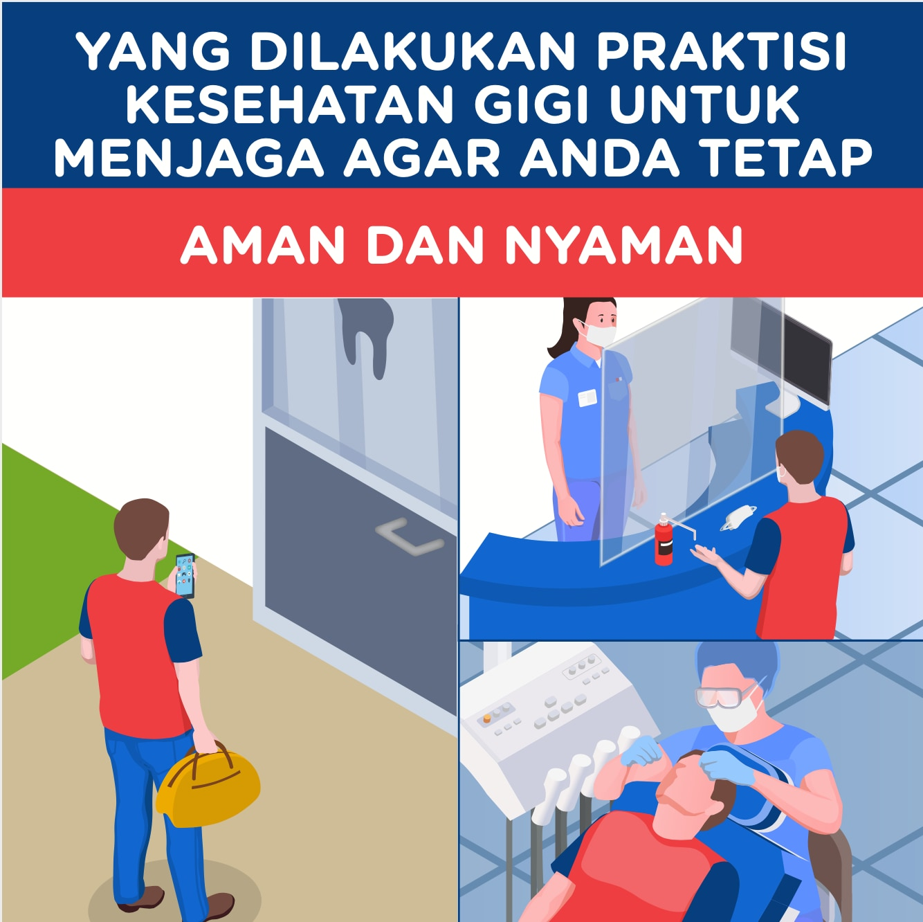 Patient Reassurance A3 poster - Indonesian