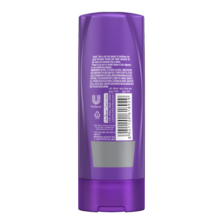 A bottle of  Sunsilk Perfect Straight Conditioner 80mlback of pack image