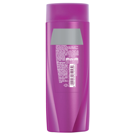 A bottle of Perfect Straight Shampoo 80ml back of pack image