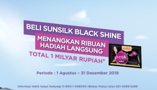 promo kode unik Sunsilk Black Shine Sachet