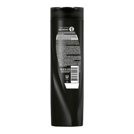 Sunsilk Black Shine Shampoo 320ml back of pack image