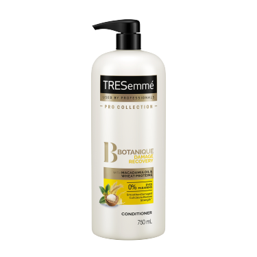 A 750ml bottle of TRESemmé Botanique Damage Recovery Conditioner