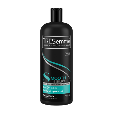 A 900ml bottle of TRESemmé Salon Silk Shampoo