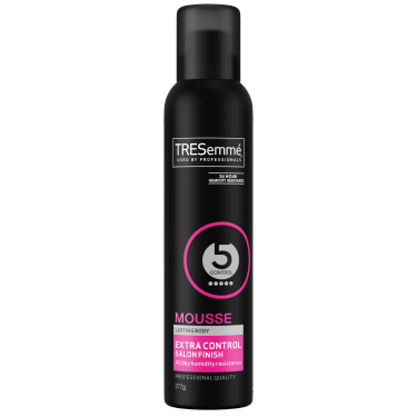 A 277g can of TRESemmé Salon Finish Extra Control Mousse