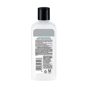A 180ml bottle of Tresemme Climate Control Conditioner back of pack image
