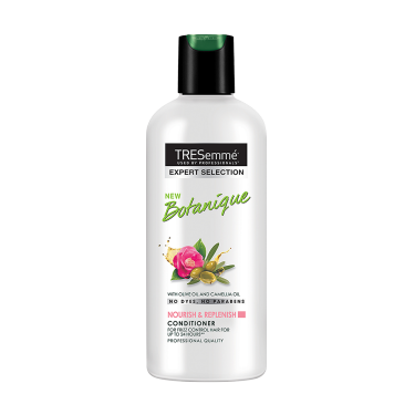 A 80ml bottle of Tresemme Botanique Replenish Conditioner front of pack image