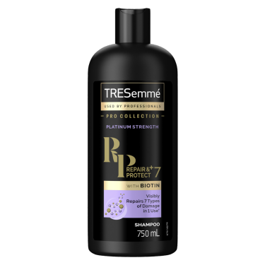 TRESemmé Platinum Strength Shampoo 750ml Front of pack image