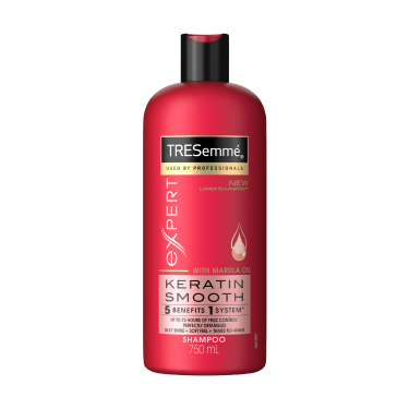 TRESemmé Expert Selection Keratin Smooth Shampoo 750ml Front of pack image